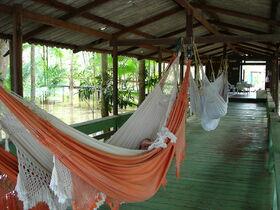 Hängematten im Amazonasgebiet